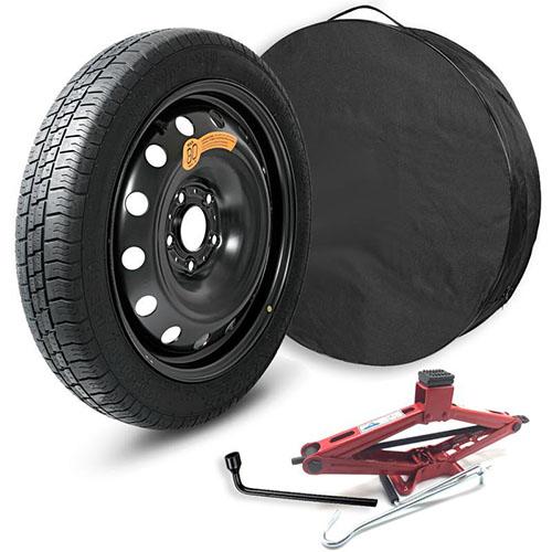 Dojezdové plechové kolo 4,0x15 4/100 KRF0027, pneu 115/70R15, vak, hever, klíč